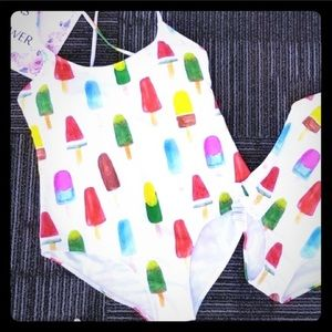 Popsicle Fruits One Piece Swimsuit